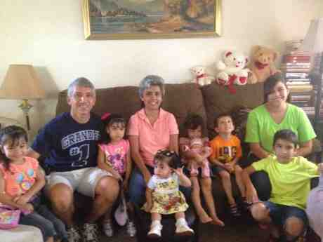 Paul and Betty and grandkids